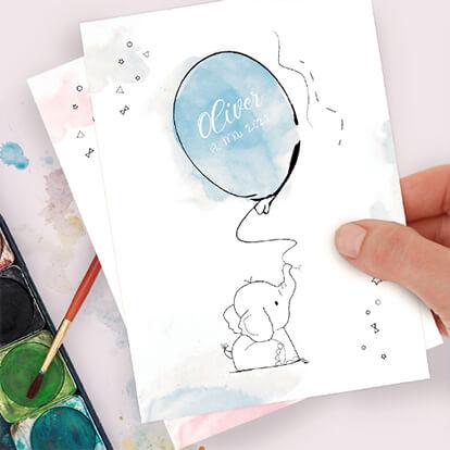 Geburtstagskarte individuell gestalten