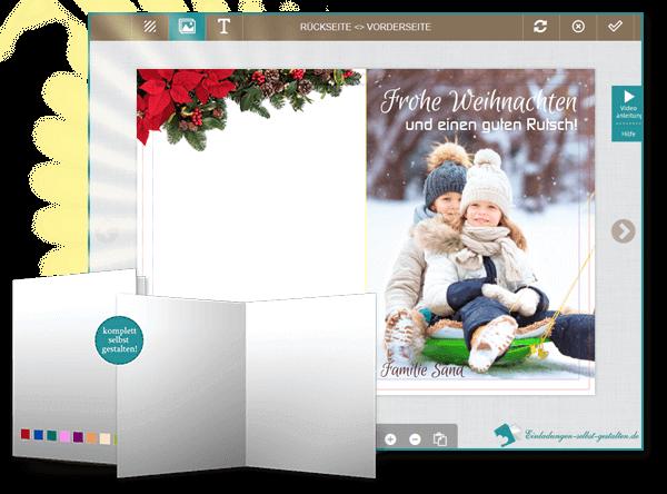 Weihnachtskarten Einladung.Weihnachtskarten Selbst Gestalten Individuell Günstig