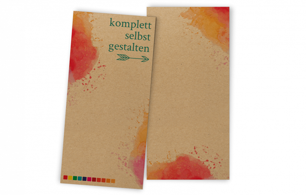 Kraftpapier-Einladung Hochformat selbst gestalten | Din-lang