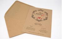 Hochzeitseinladung Vintage auf Kraftpapier