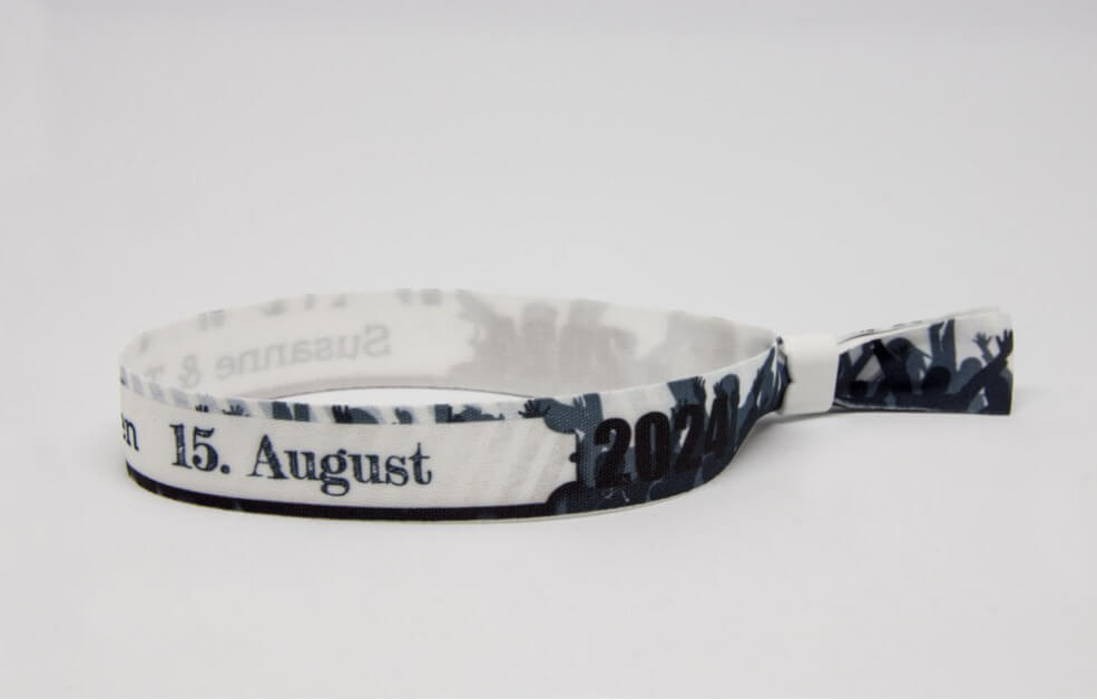 Festivalarmbänder - Blau-Grau