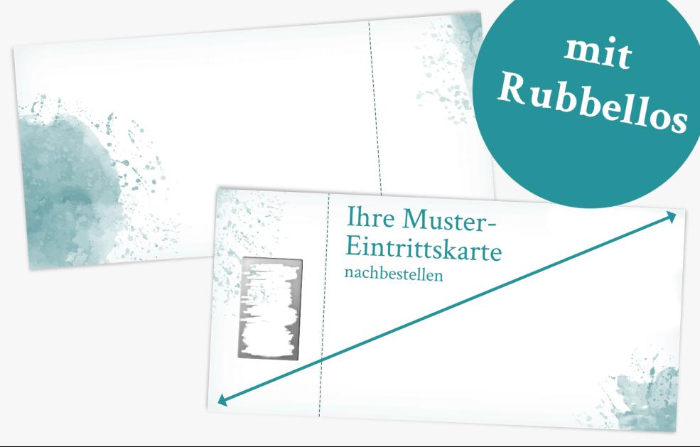 Musternachbestellung Eintrittskarte mit Rubbellos