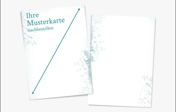 Musternachbestellung Karte (Quer- oder Hochformat)