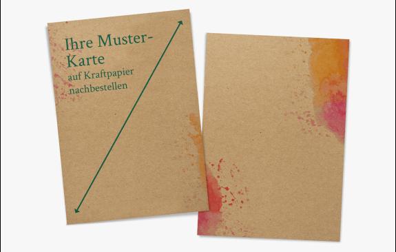 Musternachbestellung Kraftpapier-Karte (Quer- oder Hochformat)