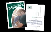 Farbenfrohe Osterkarte - als Postkarte