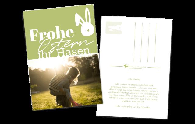 """""""Ihr Hasen"""" Ostergrüße als Postkarte"""