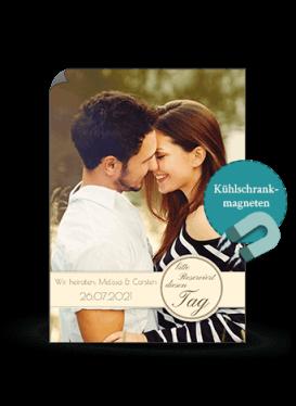 Karten zur Hochzeit magnetisch