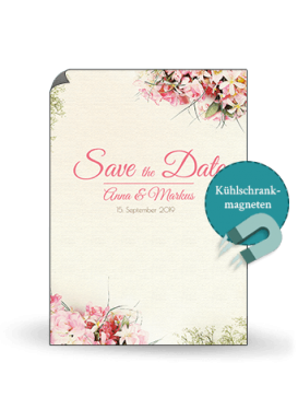Save the Date Karte Vintage mit Blumen