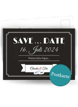 Save-the-Date Postkarte