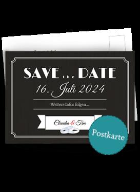 Retro Postkarte Hochzeit