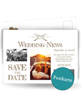 Zeitungsdesign Postkarte designen