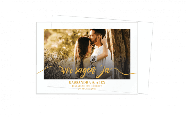 Acryleinladung zur Hochzeit – Save the Love