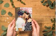 Acrylglas Hochzeitskarte – Lovely Pastel Flowers