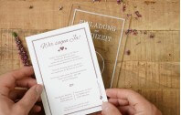 Moderne Einladung auf Acrylglas