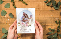 Acryl Hochzeitskarte – Modern-Boho