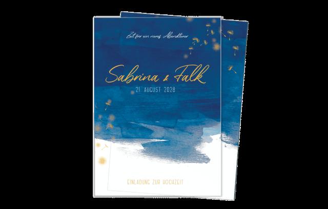 Acryl Hochzeitskarte – Aquarell