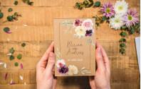 Acrylkartenset Floral Kraft