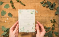 Hochzeitseinladung aus Acryl - Eukalyptus