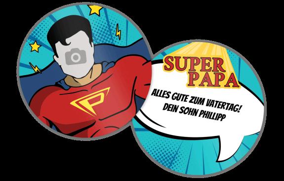 """Untersetzer """"Superheld"""""""