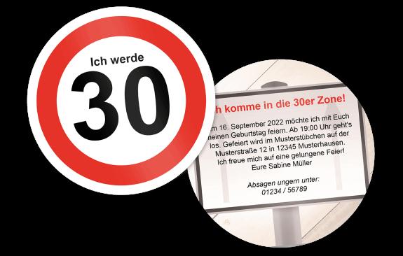 Einladung Straßenschild