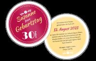 Geburtstagseinladung Bieruntersetzer Schlicht