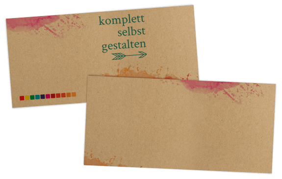 Eintrittskarte auf Kraftpapier komplett selbst gestalten