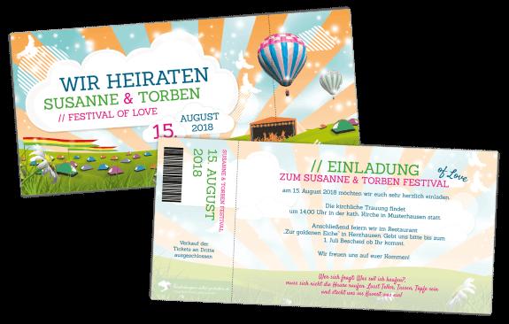 Einladung Ticket - Festival