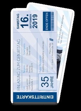 Einladungskarten Ticket Selbst Gestalten Bestellen