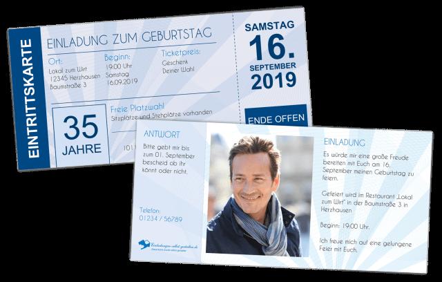 einladungskarten ticket | selbst gestalten & bestellen!