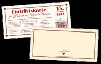Eintrittskarte Türkis Kartenspiel