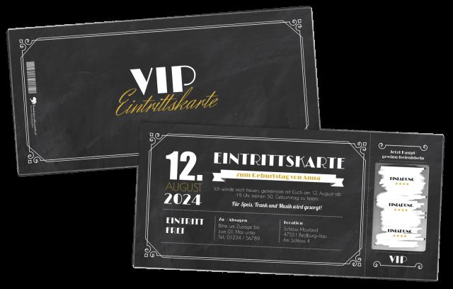 VIP-Einladungskarten mit Rubbellos