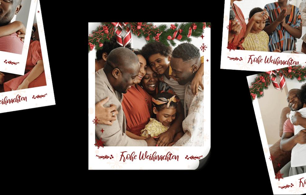 9 Retro Bilder Magneten - Weihnachtszauber