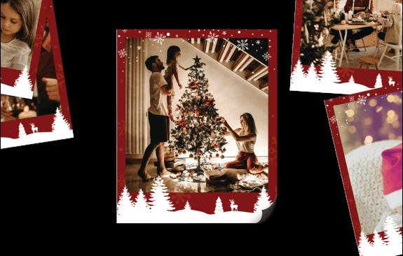 15 Polaroid-Magneten - Weihnachtsrahmen