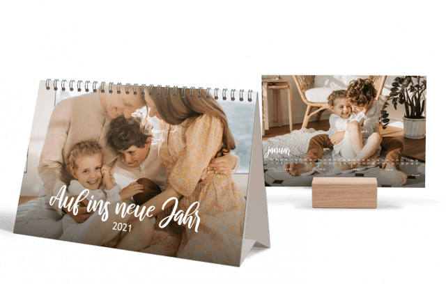 Auf ins neue Jahr | Tischkalender DIN A5