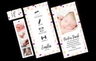 Multiprint 3-fach-Geburtskarte