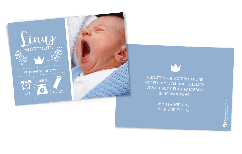 Prinz Geburtskarte