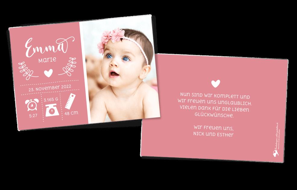 Prinzessin Geburtskarte