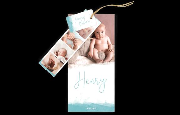"""3-Fach Geburtskarte """"kleines Wunder"""""""