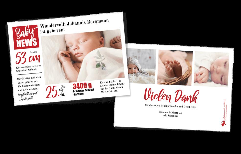 BabyNEWS Geburtskarte