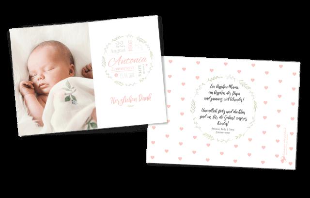 Blumenwunder Babykarte