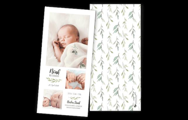 Greenery - Geburtskarte