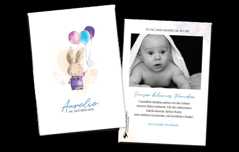 Babykarte - Hasenpfote