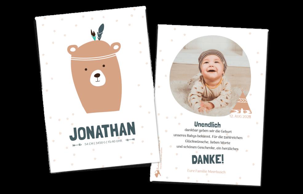 Indie-Bär - Babykarte