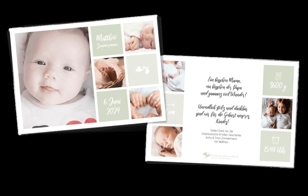 Kleines Glück - Geburtskarte