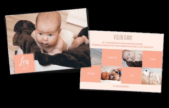 Hallo Wunder! Babykarte