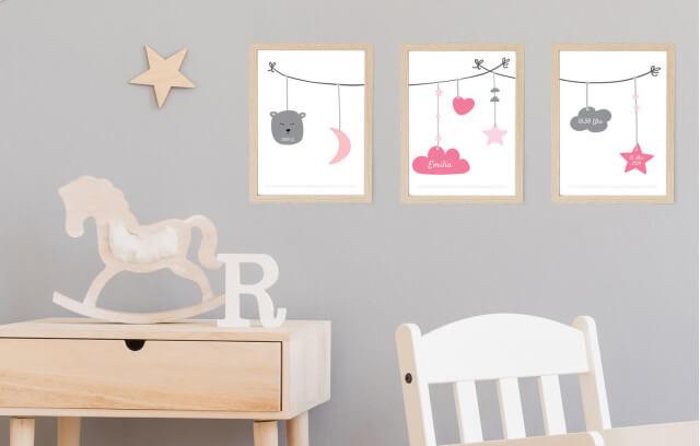 Babyschnur – Geburtsposter-Set