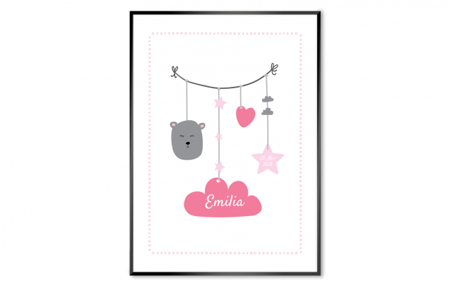 Poster zur Geburt - Babyschnur