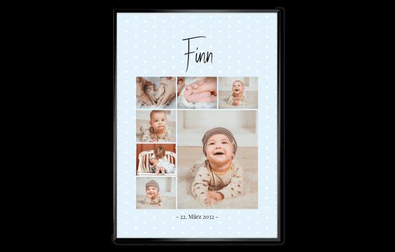 Geburtsposter – Traumcollage Blau