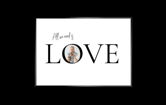 Love-Poster mit Foto
