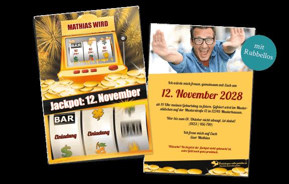 Jackpot - Rubbellos-Einladung